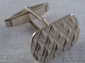 Classic Sterling Silver Cufflinks - 1970's Gentleman's Accessory (SOLD)